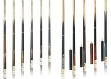 BCE GRAND MASTER ASH SNOOKER POOL BILLIARD TABLE CUE IN 3/4 GM CASE + EXTENSION